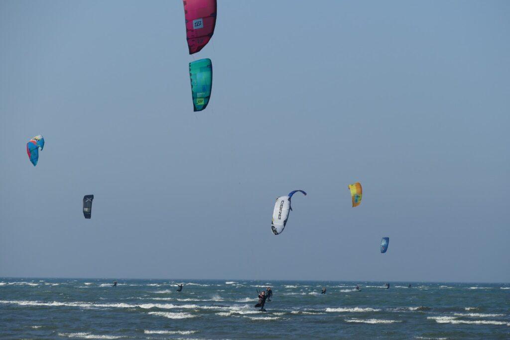 Surfers on Fehmarn