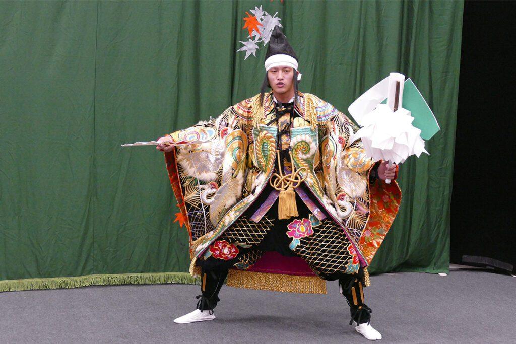 Kagura performer