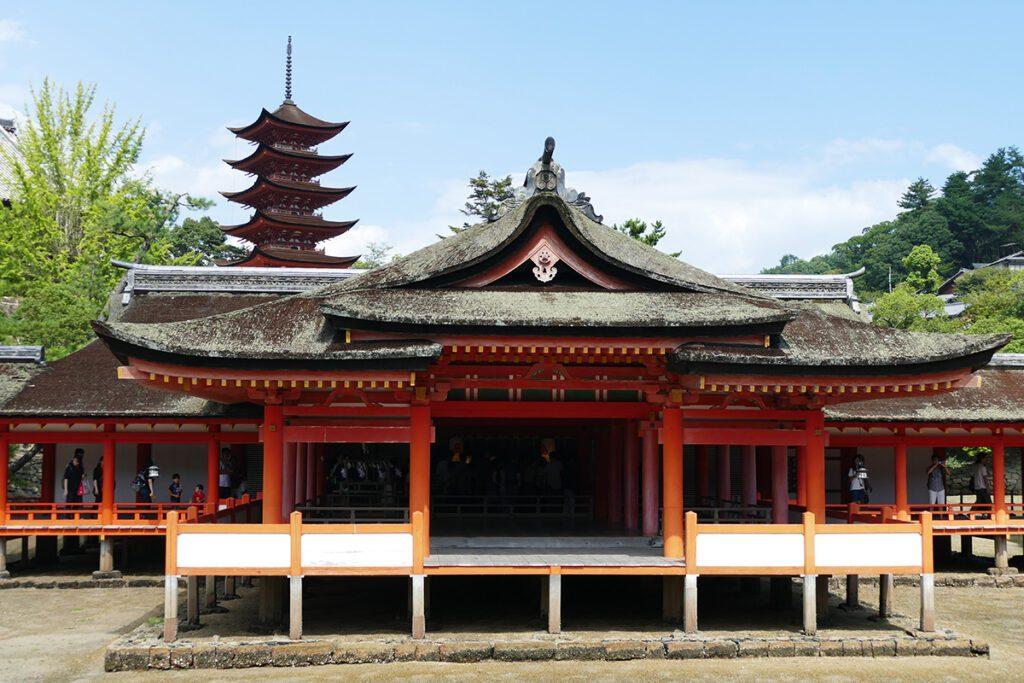 The Itsukushima Shrine on Miyajima Island