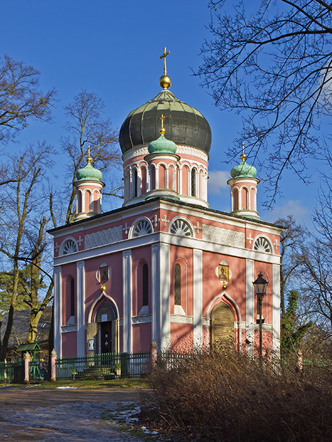 Alexander-Newski-Memorial Church in Potsdam, the great small town, introduced in this guide