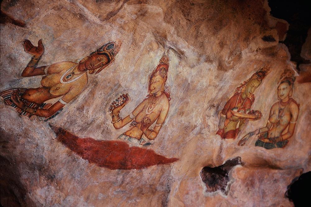 Cloud maidens in Sigiriya