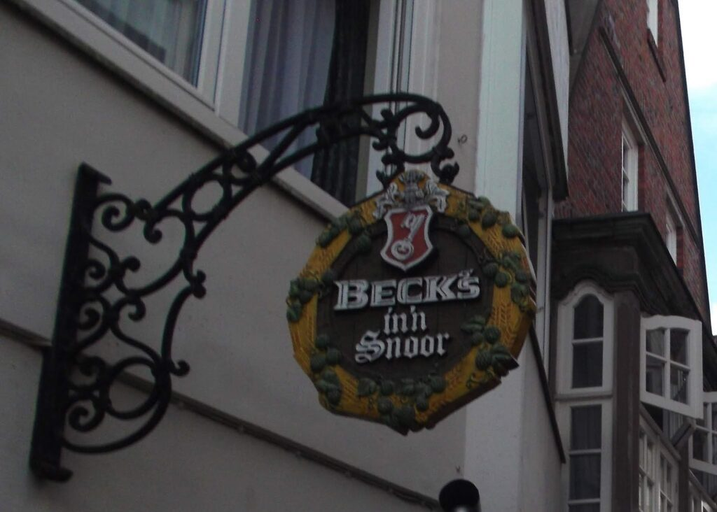 Beck's beer sign at Bremen