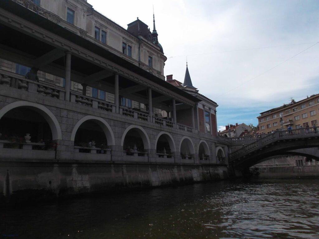 Ljubljana Fish Market Arcade and Tromostovje