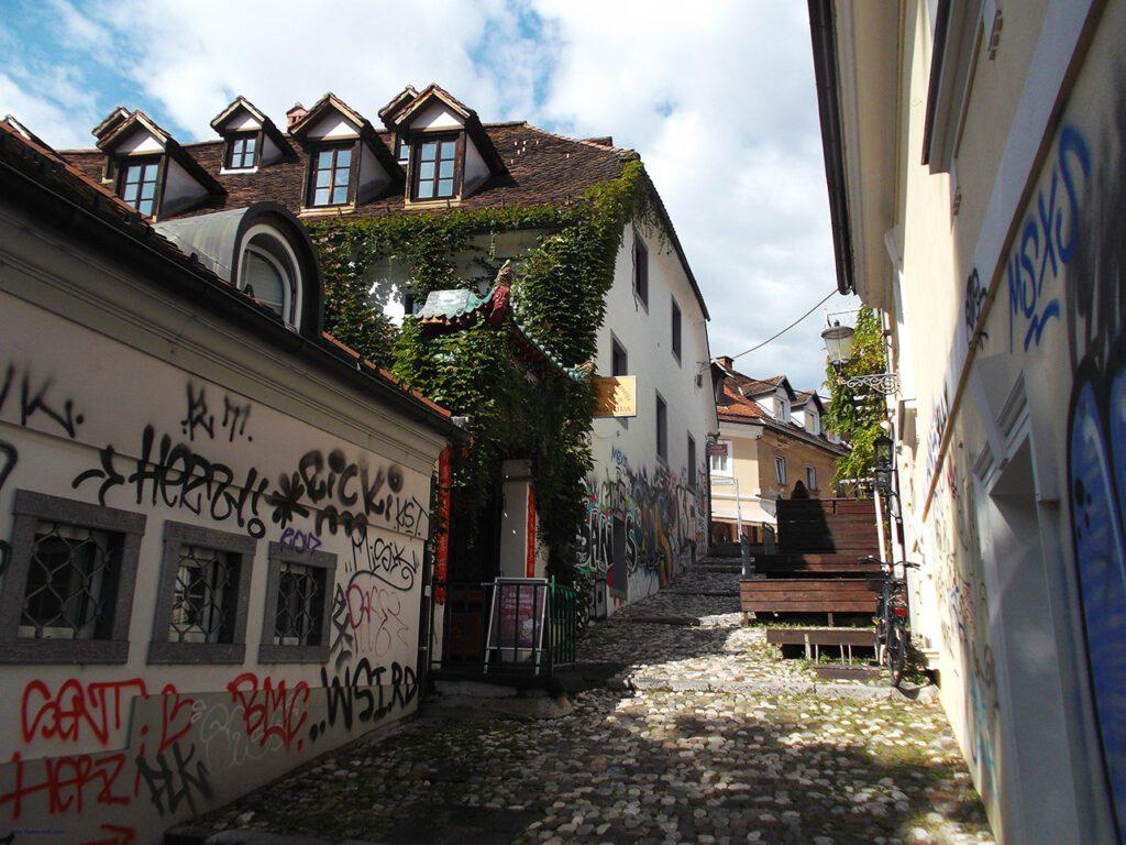 Street up to the Ljubljana Castle