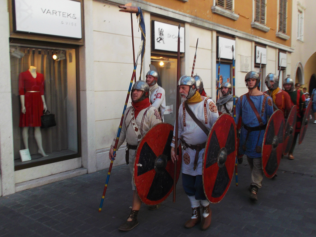 Disguised people in Rijeka - Istria