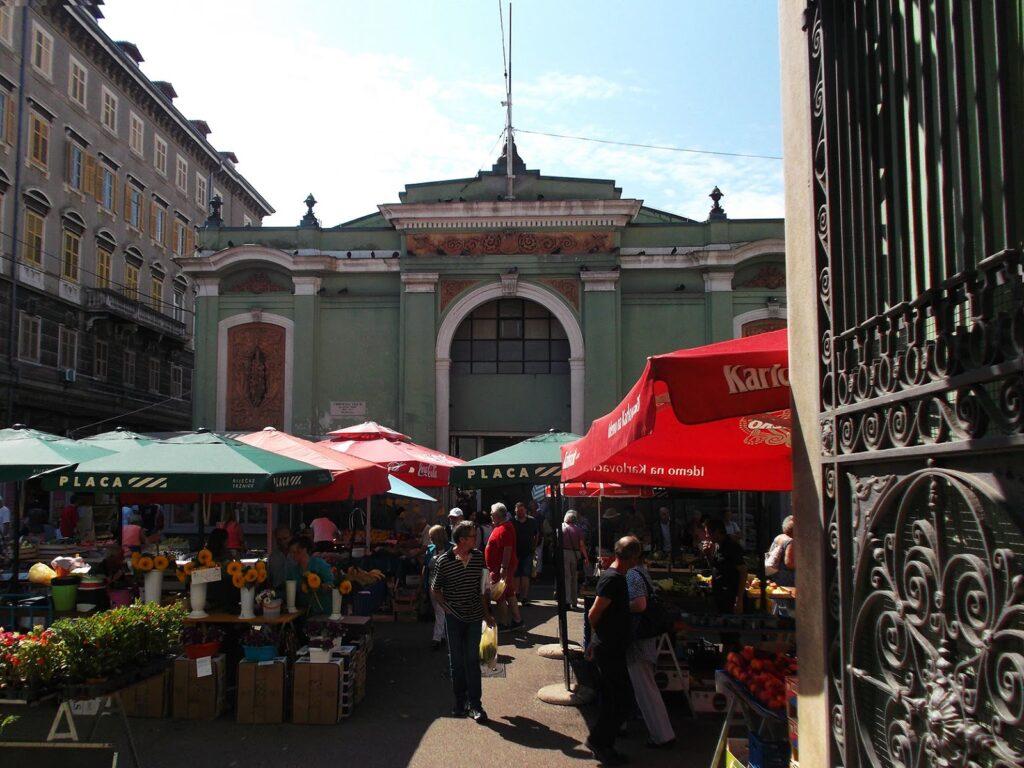 Farmers Market in Rijeka Istria Croatia
