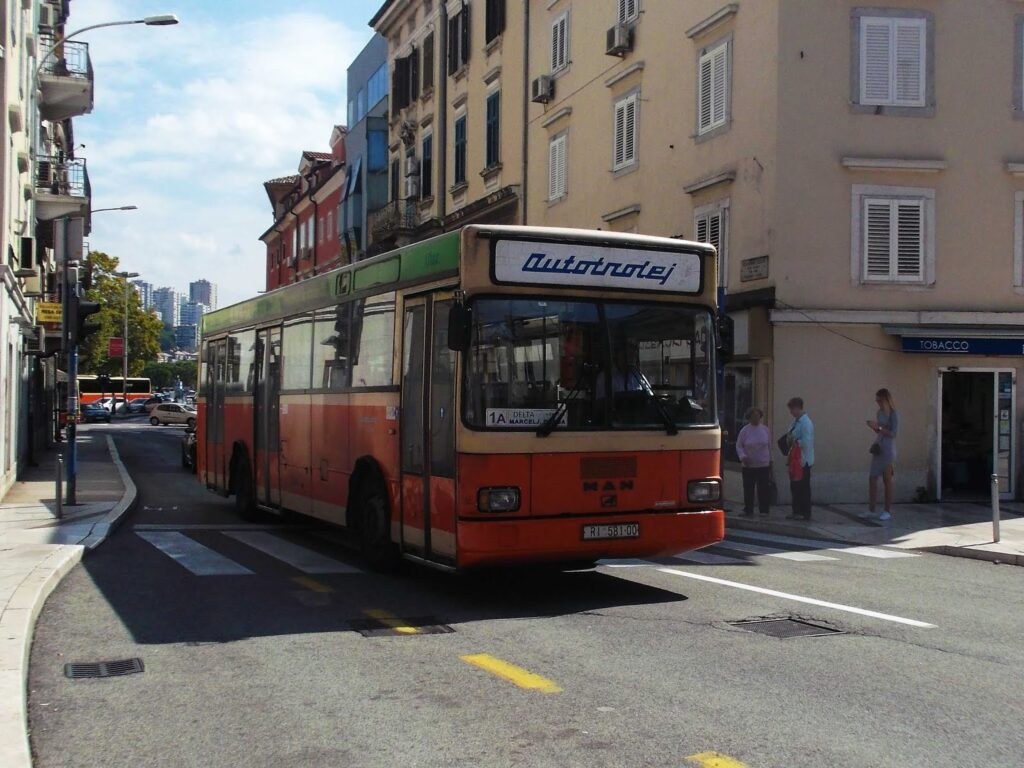 Bus in Rijeka on my tour through Croatia