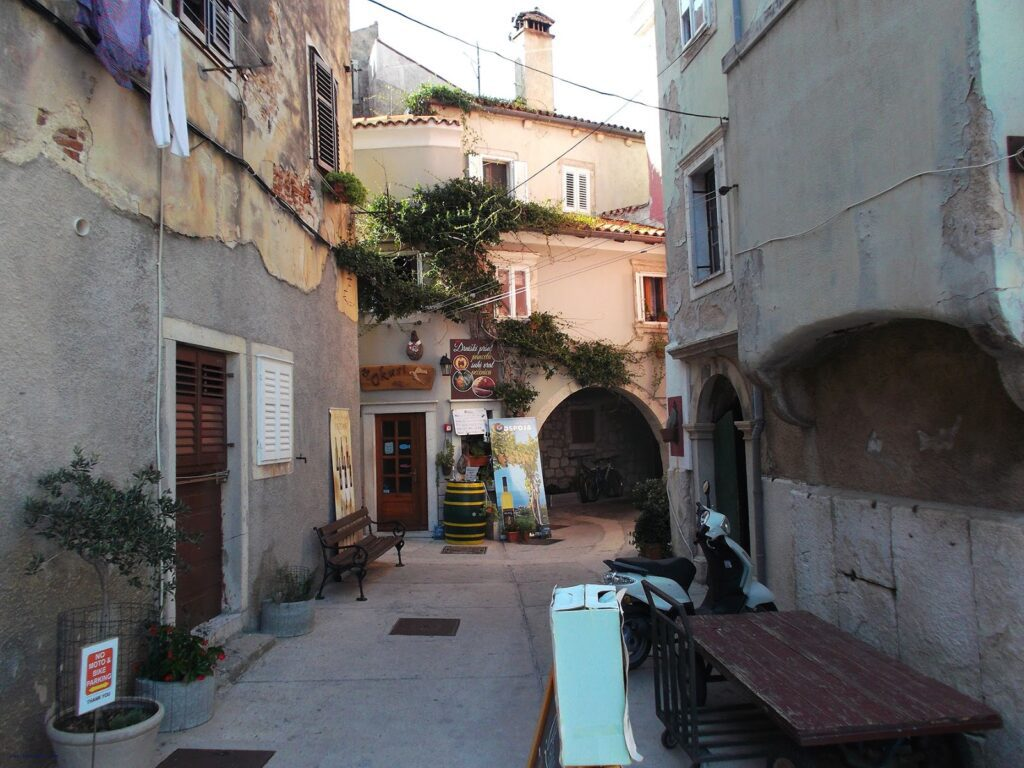 Cres Town in Istria Croatia