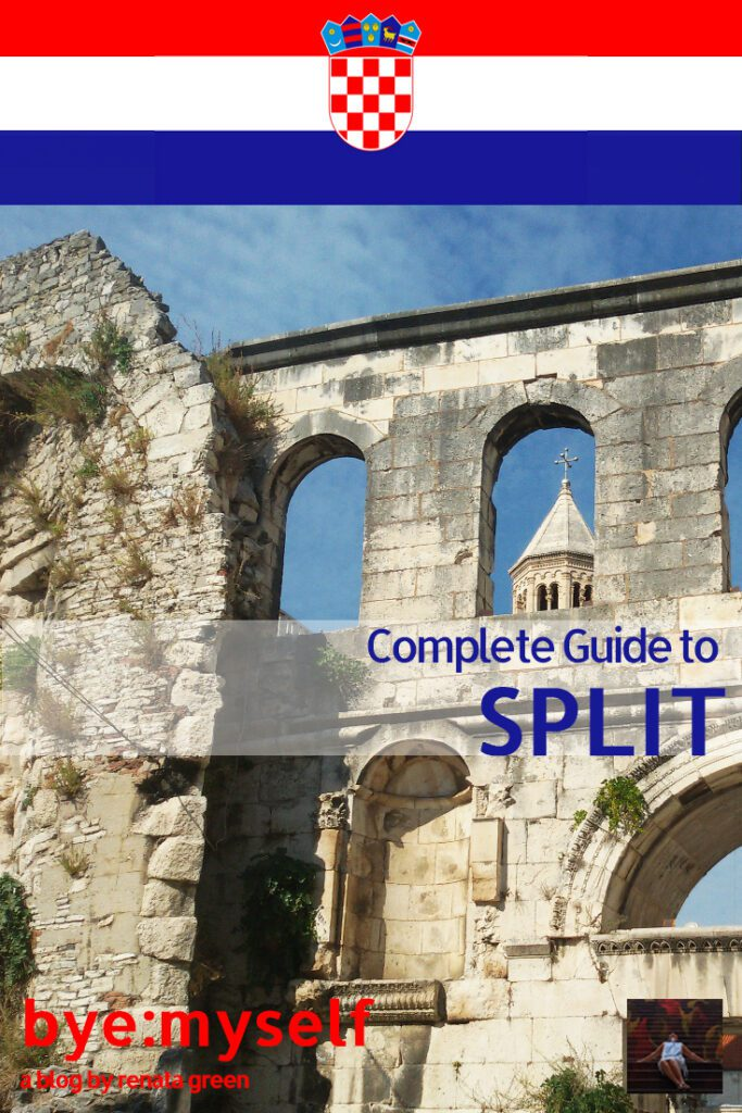 Pinnable Picture for the Post on Guide to SPLIT, a city that has it all