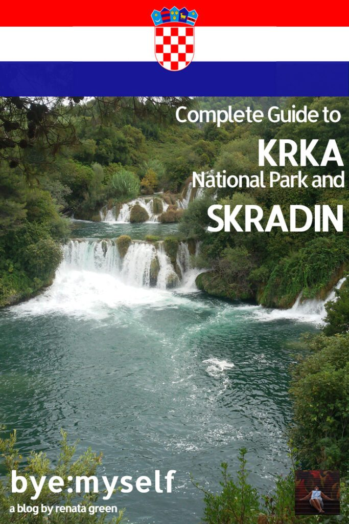 Pinnable Picture for the Post on Guide to KRKA National Park and SKRADIN