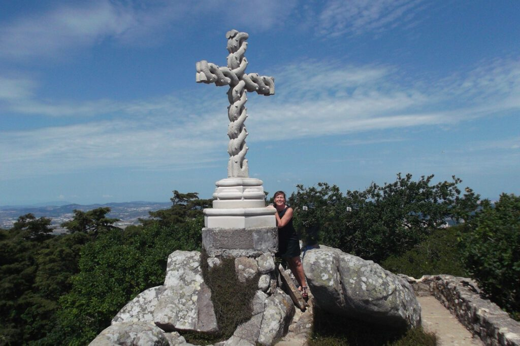 Renata Green on top of a Hill in Sintra
