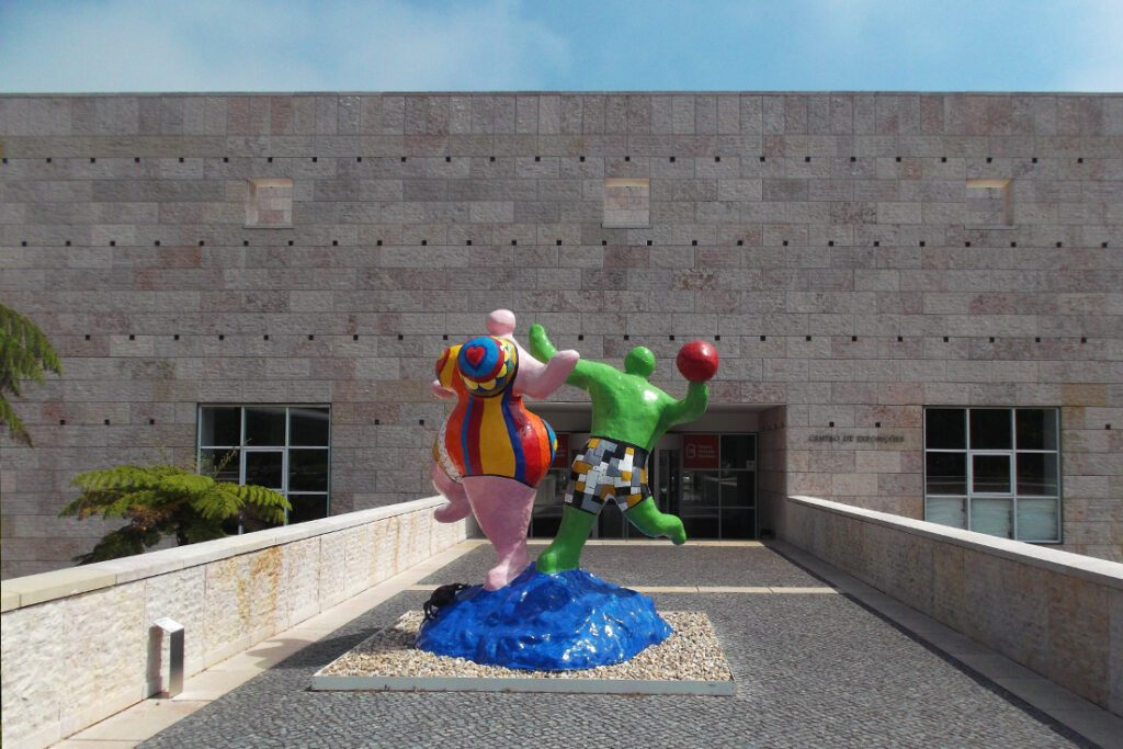 Niki Saint-Phalle's Les Beigneuses  at the Berardo in Belem on the outskirts of Lisbon