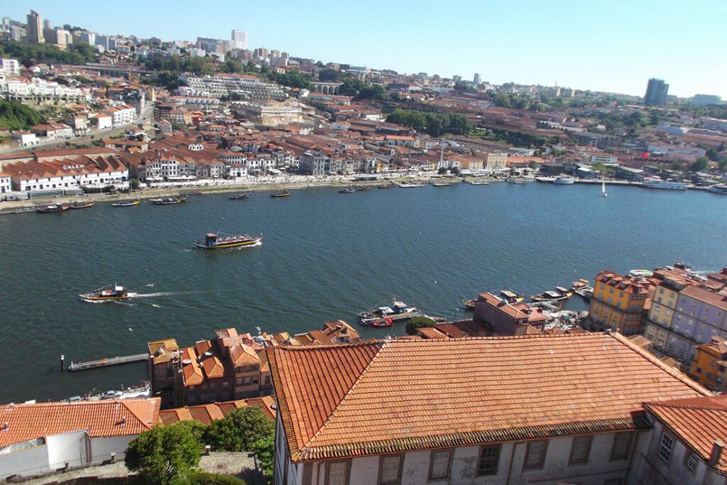 The historic center along the river Douro.