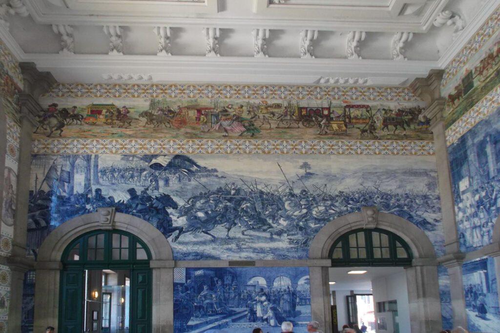 Azulejos at the São Bento train station in Porto