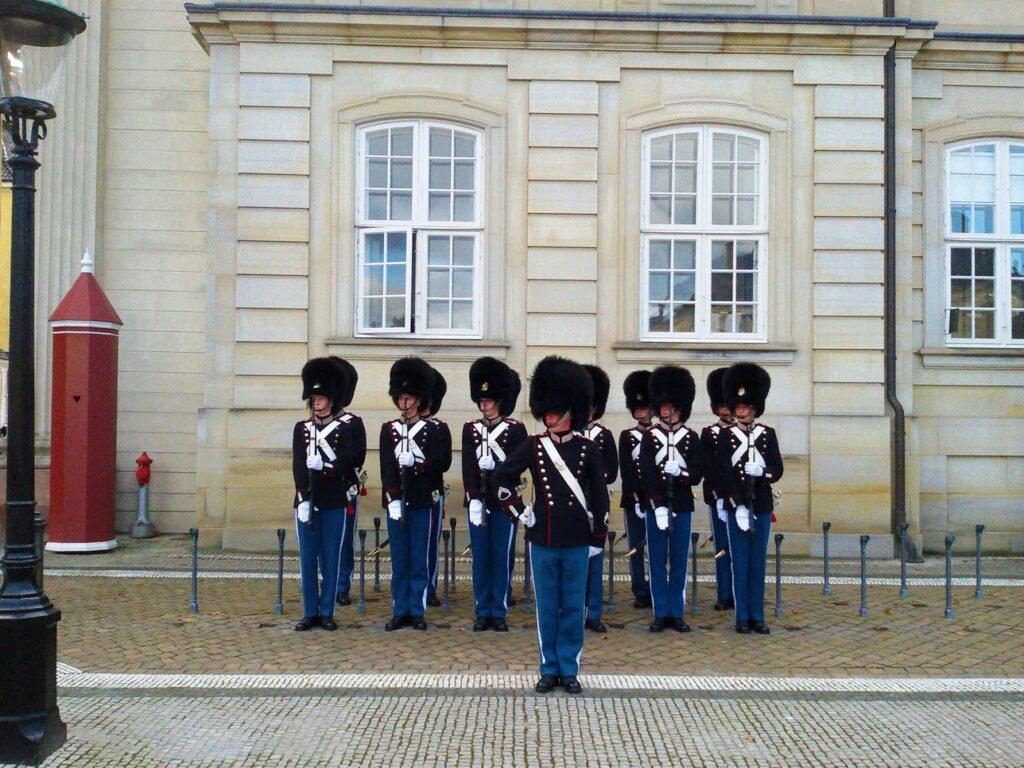 change of guards at Copenhagen