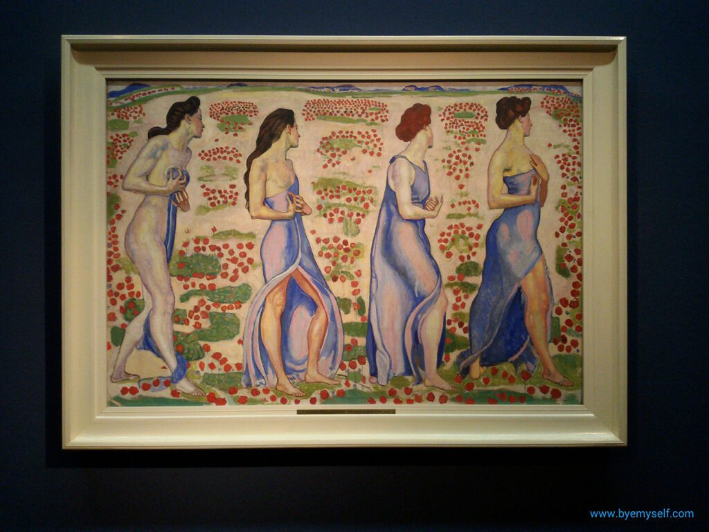 Painting by Ferdinand Hodler at the Leopold Museum in Vienna
