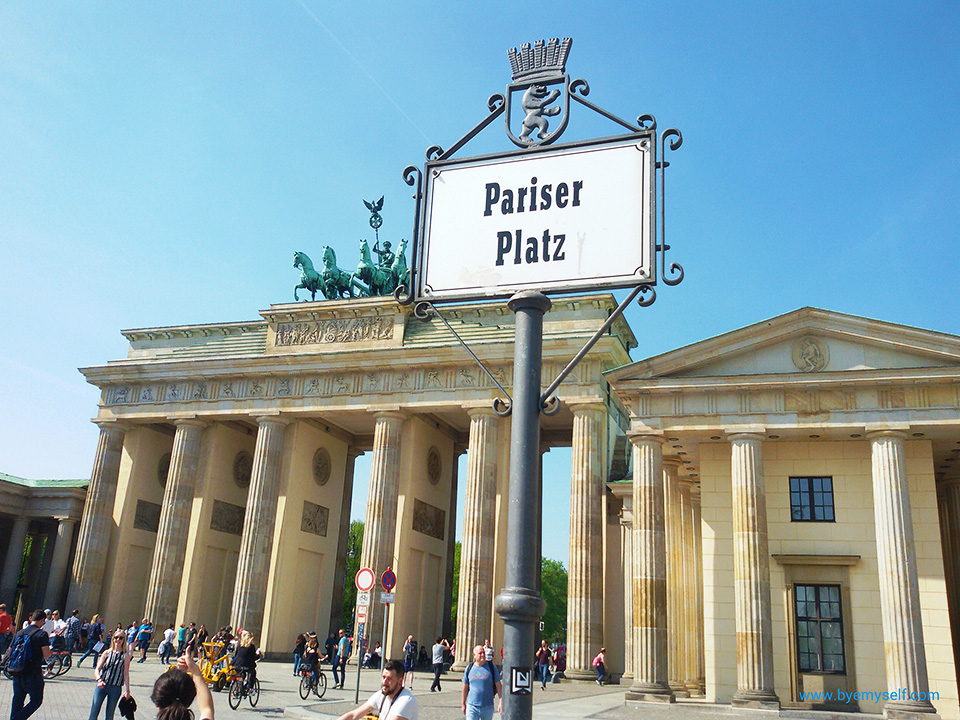 Guide to Berlin: The Brandenburg Gate is one of the sights passed by bus 100.