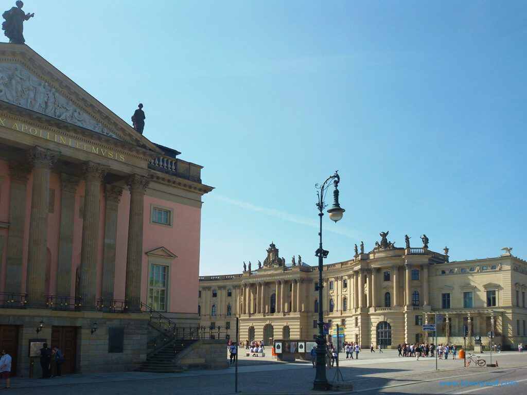 The Bebelplatz with the State Opera in Berlin