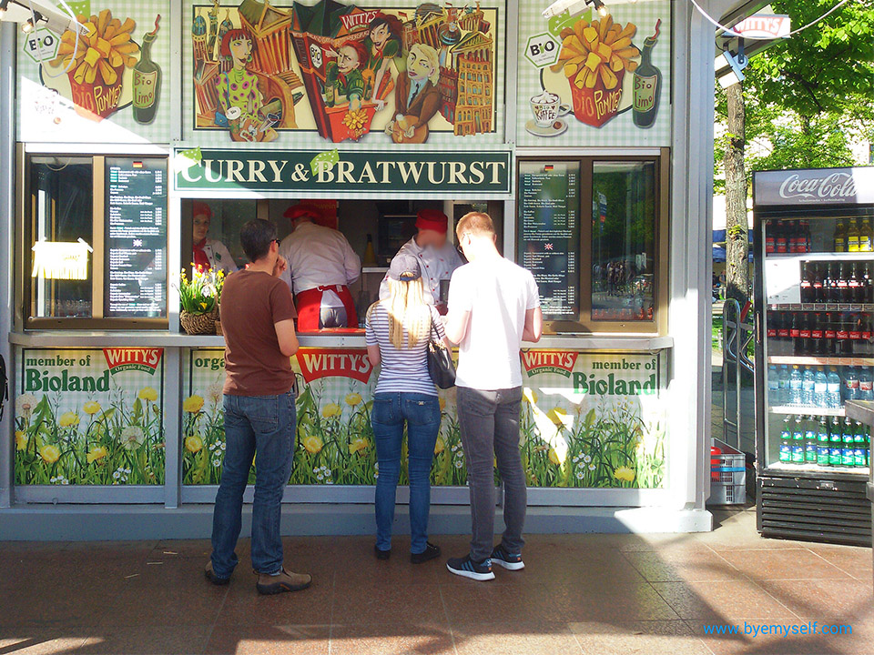 Currywurst - a must-try treat when on tour by bus 100, introduced in my guide to Berlin