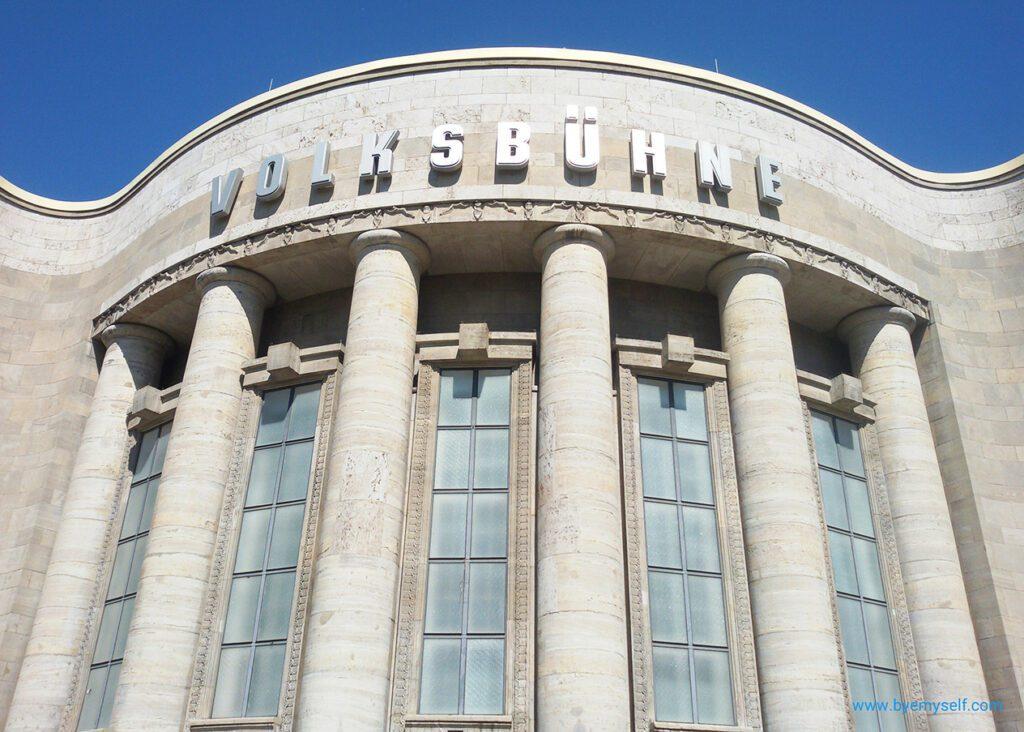 bye:myself - Renata Green - byemyselftravels: Berlin Wild East - Rosa Luxemburg Platz - Volksbühne