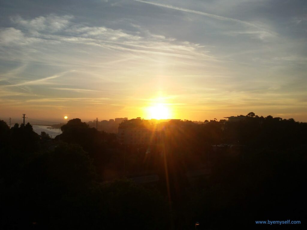 View from the Hotel Mercure Porto Gaia