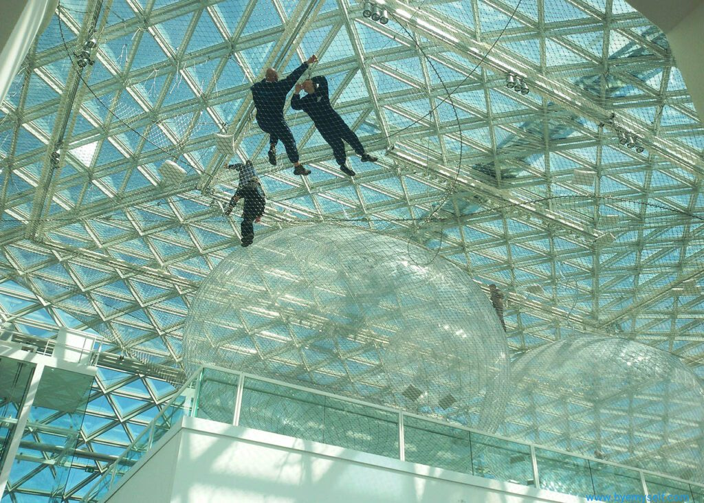 In Orbit - a steady installation by Tomás Saraceno.