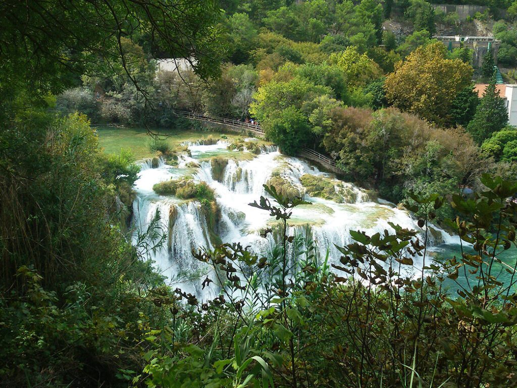 Center of attention: The Skradinski Buk waterfall.