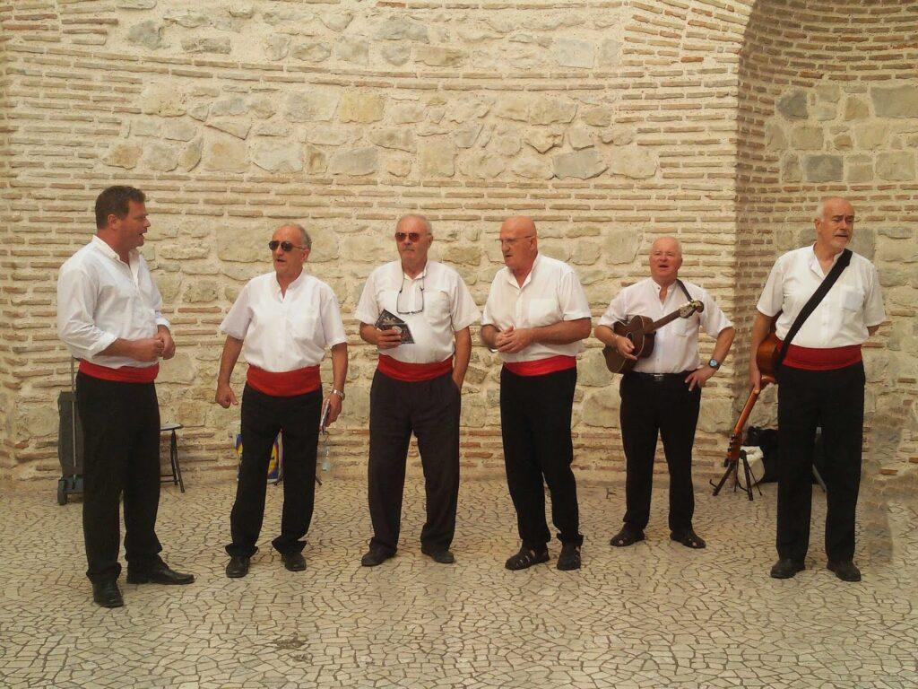 Klapa group performing at the Vestibule in Split
