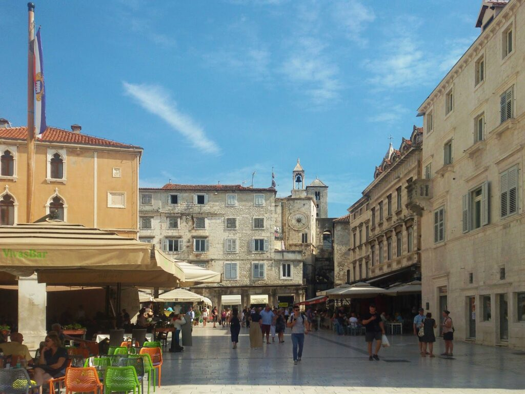 Narodni Trg, aka Pjaca, is one of the most beautiful squares in Split.