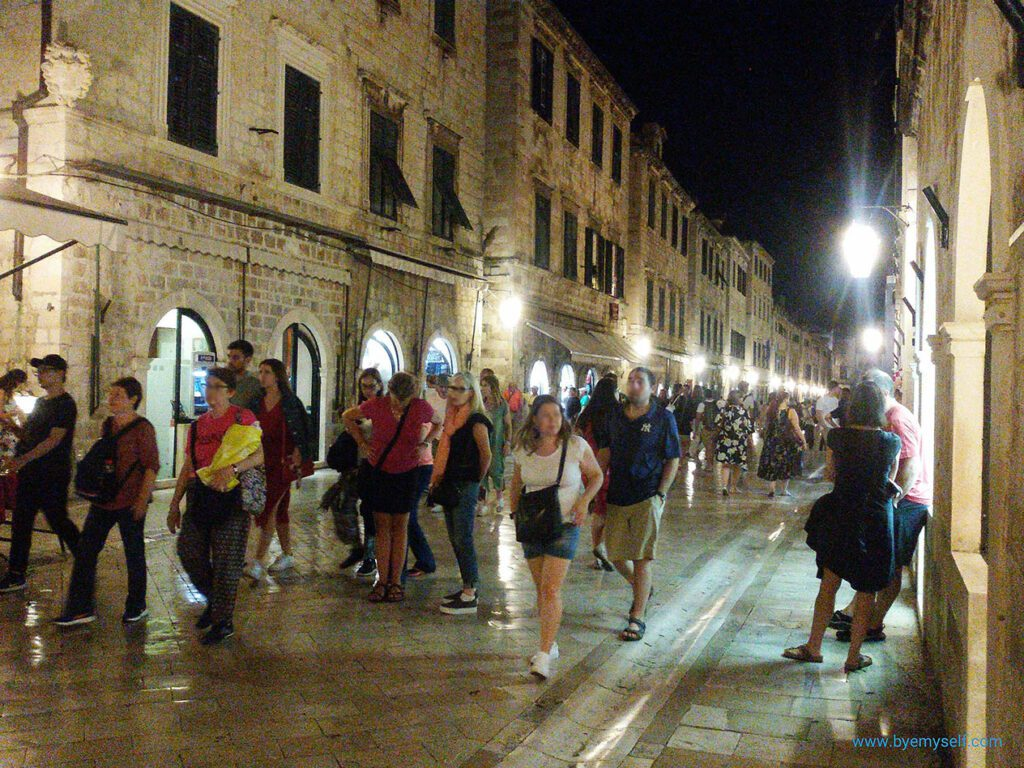 DUBROVNIK, Dalmatia's Lustrous Pearl at night