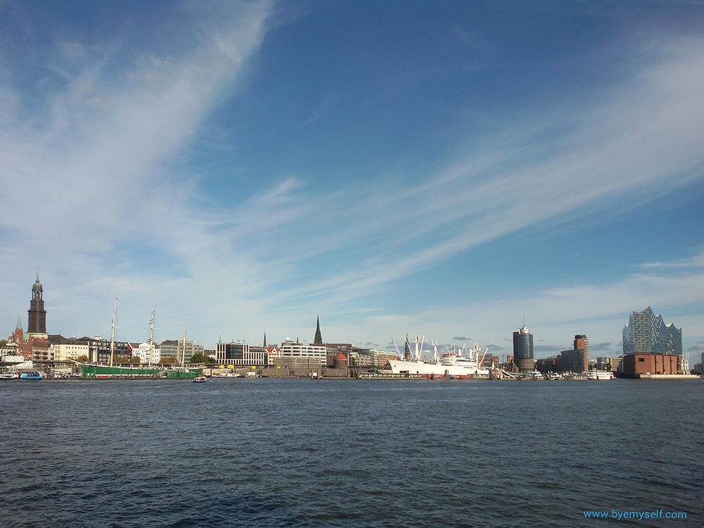 View of Hamburg Harbor