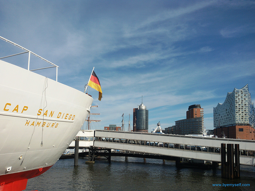 Cap San Diego in the harbor of Hamburg