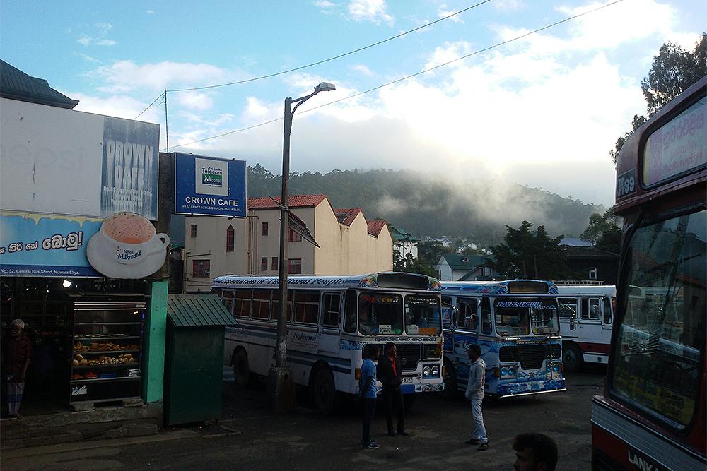 Bust Station in Nuwara Eliya in the early morning