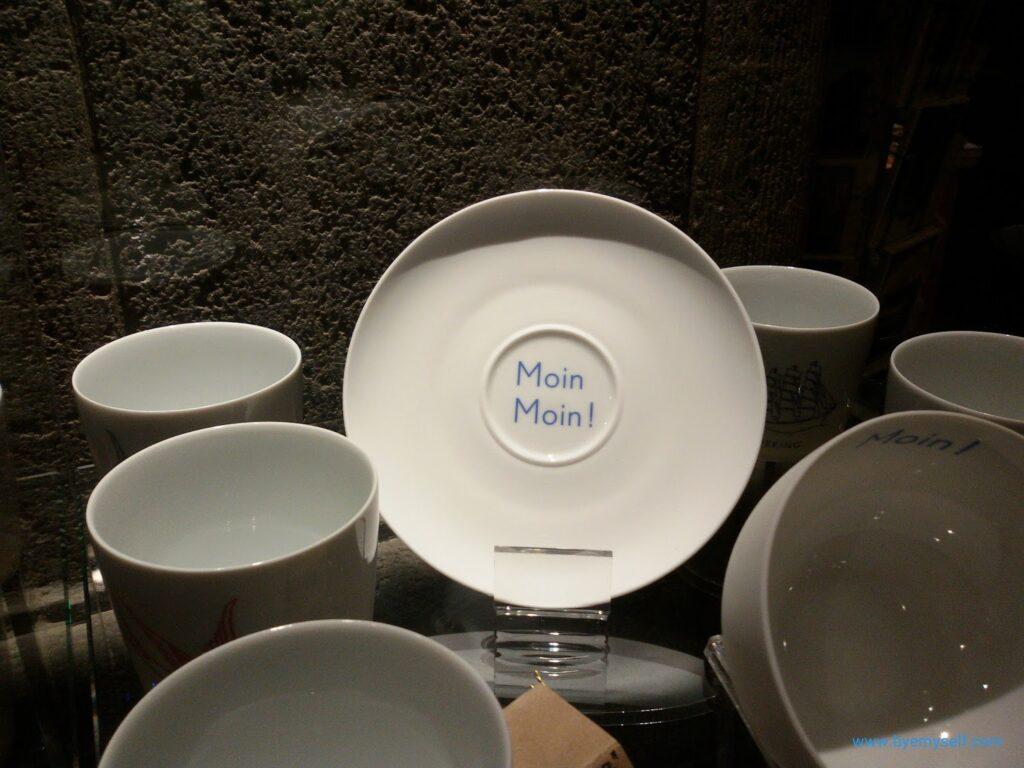 Hamburg-themed china ware