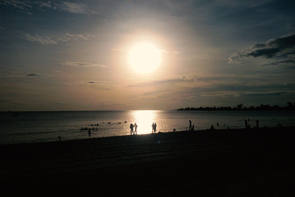 Sunset on the Beach at SIHANOUKVILLE - Cambodia's most popular beach town