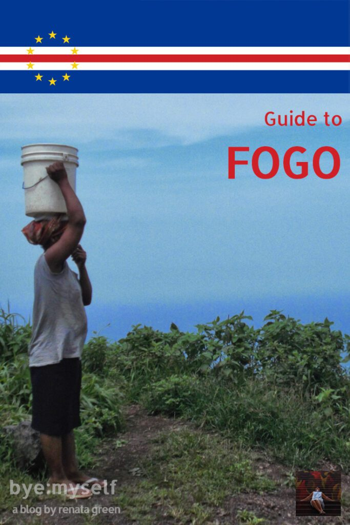 Pinnable Picture for the post on the island of Fogo, Cape Verde