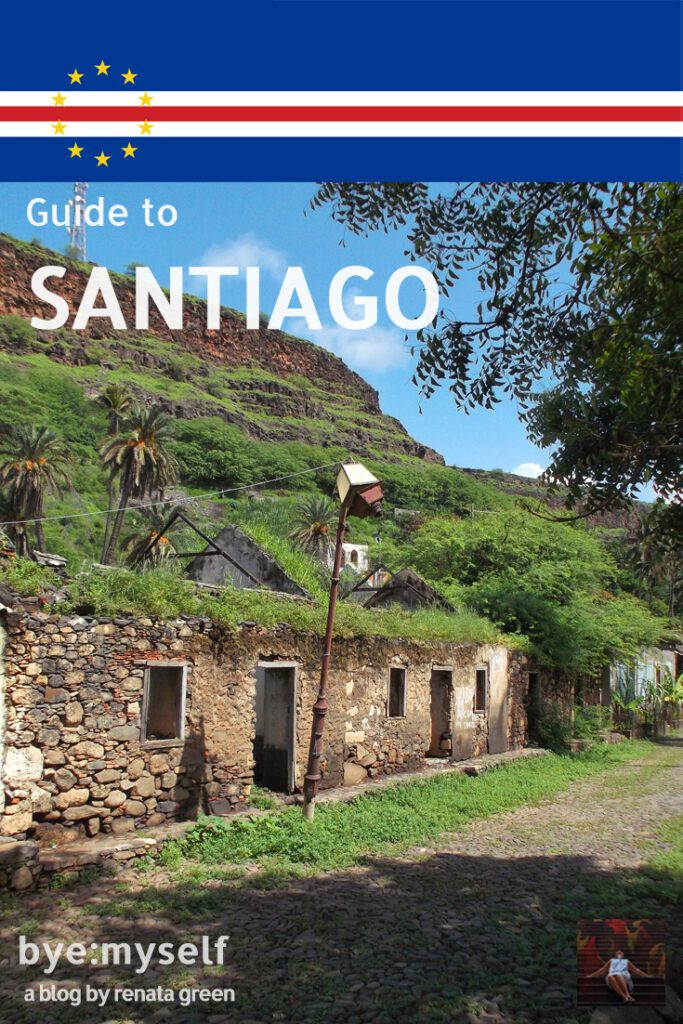 Pinnable Picture for the post on the island of Santiago, Cape Verde