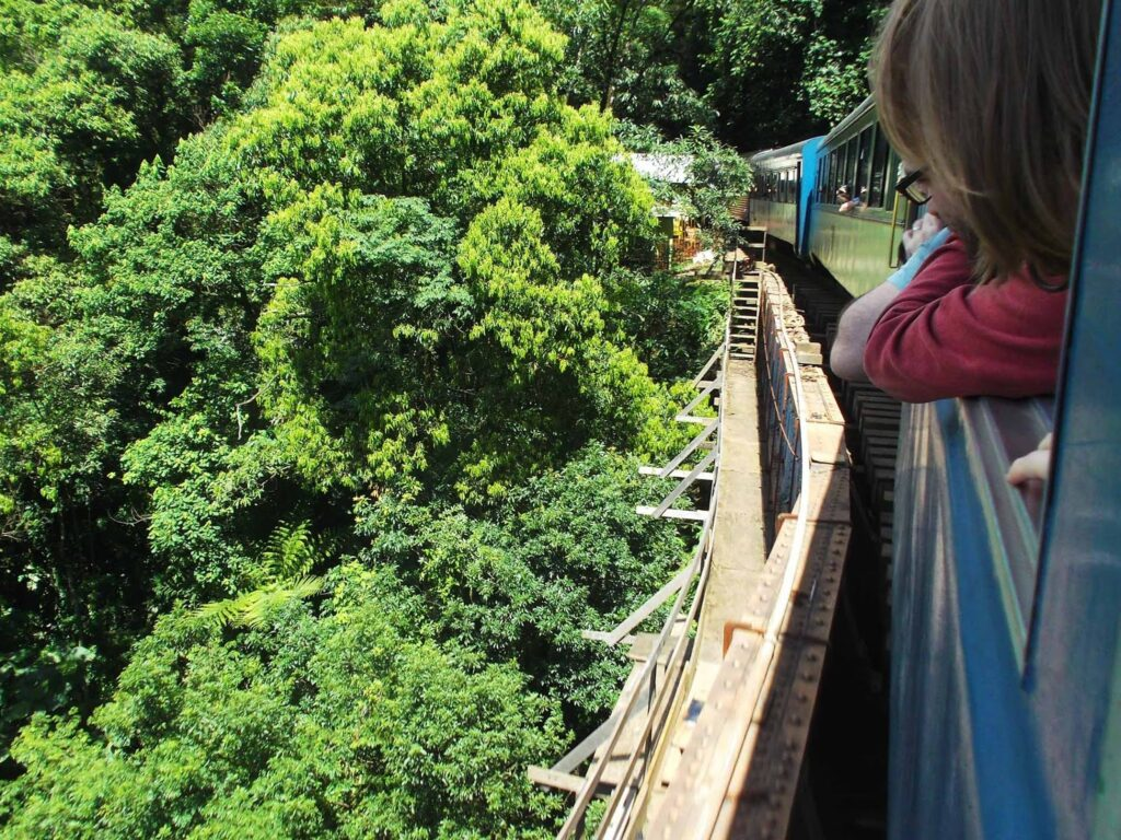 On a day trip from Curitiba to Morretes on the Serra Verde Express