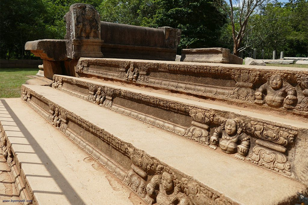 These steps were leading to the Pancavasa, also known as Mahasena's palace in Anuradhapura Mihintale Sri Lanka