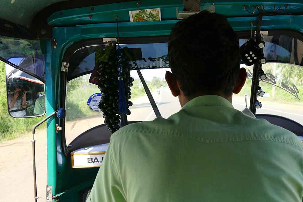 Tuk tuk from Anuradhapura to Mihintale Sri Lanka