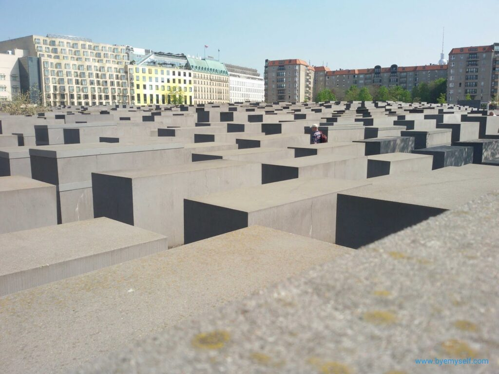 Memorial to the Murdered Jews of Europe in Berlin, not to be missed when on tour by bus 100, introduced in my guide to Berlin