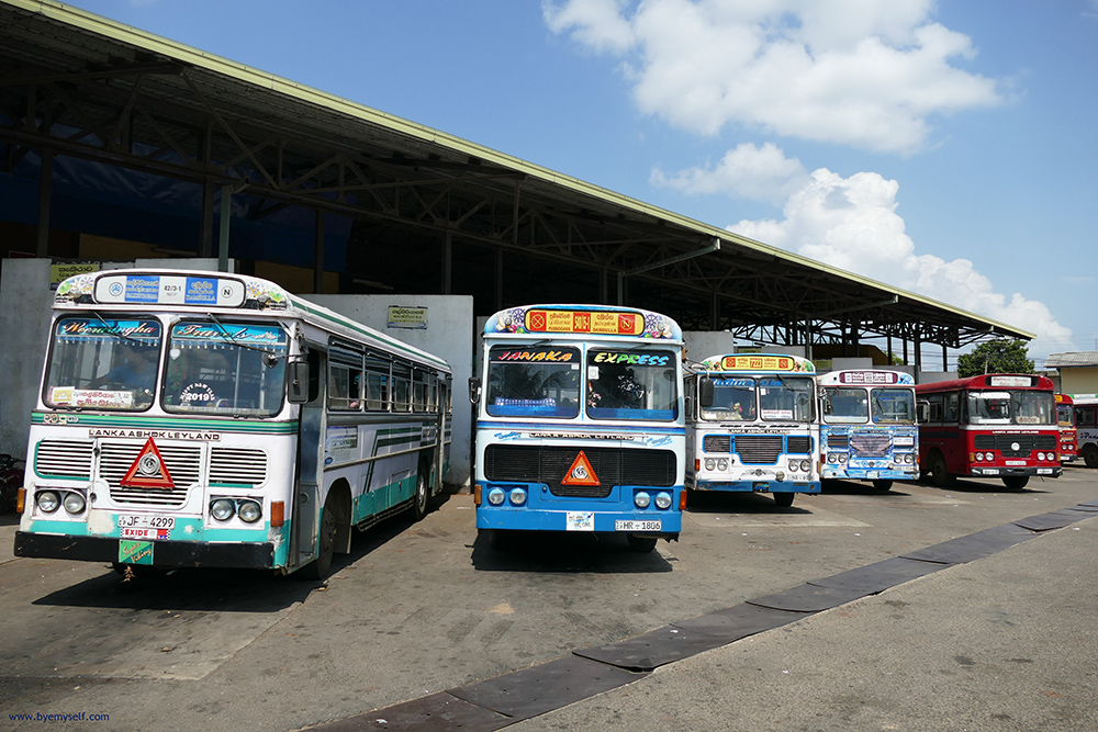 Buses on SRI LANKA, described in my  Guide to the Most Amazing Places
