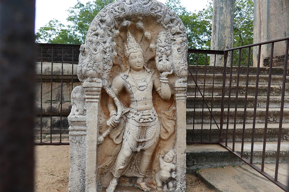 Statue of the Cobra King at Anuradhapura Mihintale Sri Lanka
