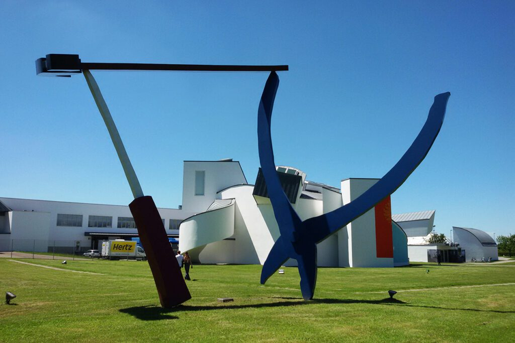 Claas Oldenburg Balencing Tools on the Vitra Exhibition Site in Weil am Rhein