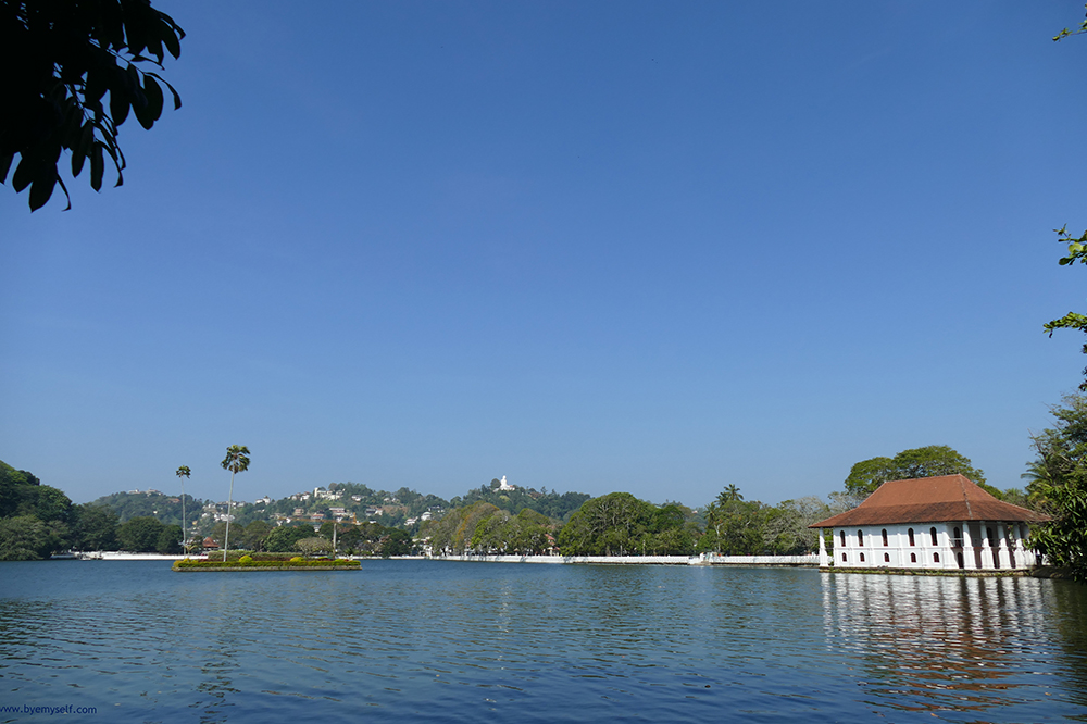 View of the lake in Kandy