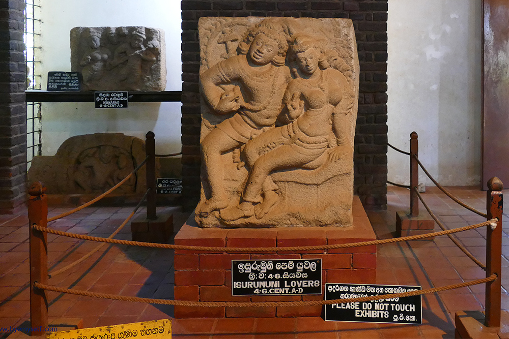 The famous Isurumuniya Lovers in Anuradhapura Mihintale Sri Lanka