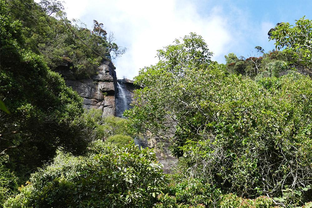Lover's Leap waterfall in Nuwara Eliya