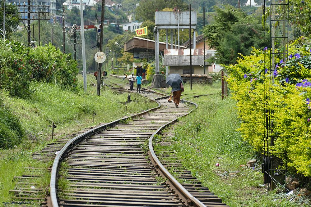 Train rails between Haputale and Nuware Eliya