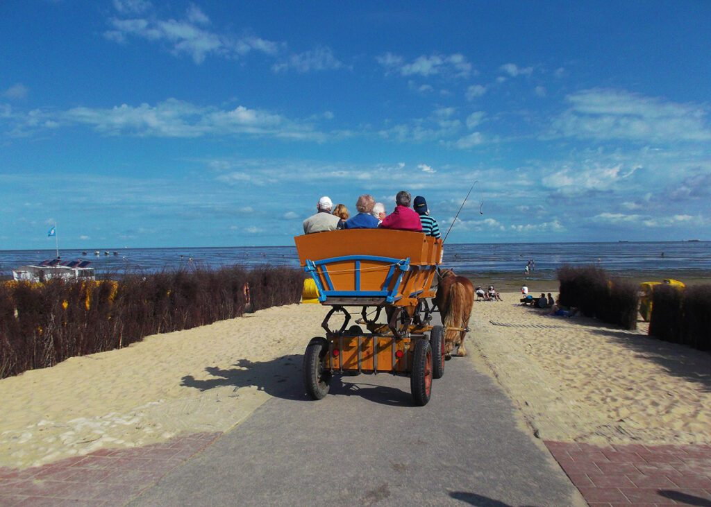 Carriage going from Cuxhaven to the island of Neuwerk