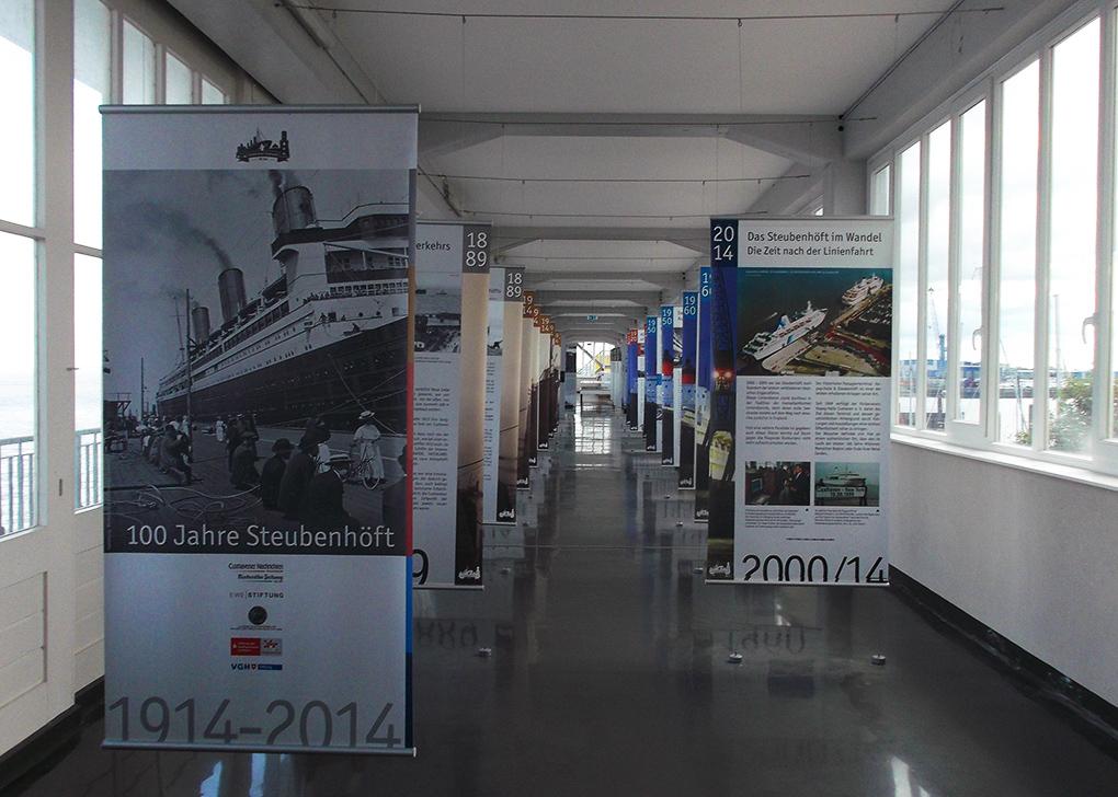 Cuxhaven Hapag-Hallen, Exhibition at Steubenhöft Exhibtion on people Coming to America